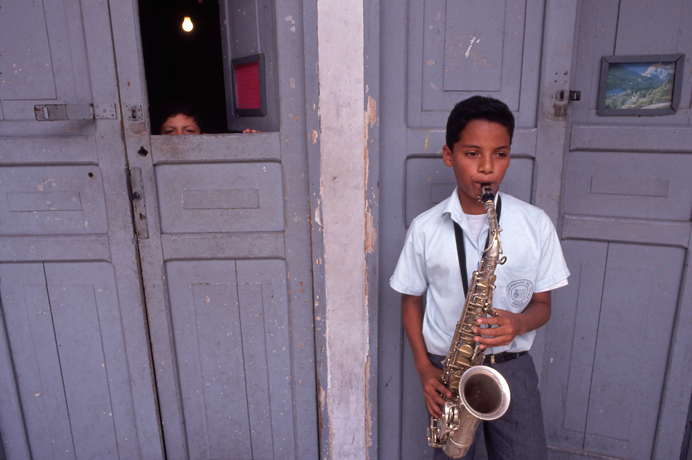Young Saxophonist Practising, Ibague, Colombia