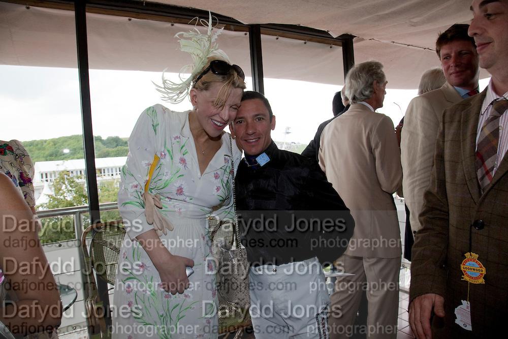 COURTNEY LOVE; FRANKIE DETORI;  IN THE DUKE OF RICHMOND BOX, Glorious Goodwood. Ladies Day. 28 July 2011. <br /> <br />  , -DO NOT ARCHIVE-© Copyright Photograph by Dafydd Jones. 248 Clapham Rd. London SW9 0PZ. Tel 0207 820 0771. www.dafjones.com.