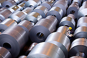 Ipatinga_MG, Brasil.<br /> <br /> Fabrica de acos planos da Usiminas, em Ipatinga, Minas Gerais.<br /> <br /> Usiminas Steel industry in Ipatinga, Minas Gerais.<br /> <br /> Foto: BRUNO MAGALHAES / NITRO