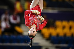 October 28, 2018 - Doha, Quatar - Yile Chen of China   during  Floor qualification at the Aspire Dome in Doha, Qatar, Artistic FIG Gymnastics World Championships on 28 of October 2018. (Credit Image: © Ulrik Pedersen/NurPhoto via ZUMA Press)