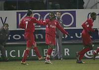 FLORENT SINAMA PONGOLLE CELEBRATES HIS 2ND GOAL-.PIC BY KIERAN GALVIN / COLORSPORT