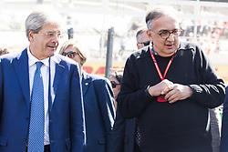 September 3, 2017 - Monza, Italy - Motorsports: FIA Formula One World Championship 2017, Grand Prix of Italy, .Paolo Gentiloni, Sergio Marchionne  (Credit Image: © Hoch Zwei via ZUMA Wire)