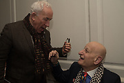 SIMON CALLOW; NAIM ATTALAH;  , The launch of Fire Child by Sally Emerson. Hosted by Sally Emerson and Naim Attalah CBE. Dean St. London. 22 March 2017