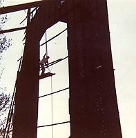 1973 Refurbishing the Hollywood sign