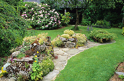 Curved rockery bed<br /> June