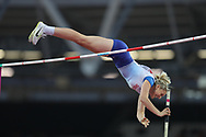 Holly Bradshaw  at the IAAF World Championships at the London Stadium, London, England on 6 August 2017. Photo by Myriam Cawston.