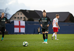 GRÖDIG, AUSTRIA - Tuesday, December 10, 2019: Liverpool's Harvey Elliott prepares to take a penalty kick during the final UEFA Youth League Group E match between FC Salzburg and Liverpool FC at the Untersberg-Arena. (Pic by David Rawcliffe/Propaganda)