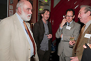 BRENDAN KING; RICHARD BESWICK; MIKE LAURENCE, The Man Booker Best Of Beryl Prize, The Union, 50 Greek Street, London, 19 April 2011. Party celebrates special prize created by the Booker Foundation in honour of the late Beryl Bainbridge who died in July 2010.   -DO NOT ARCHIVE-© Copyright Photograph by Dafydd Jones. 248 Clapham Rd. London SW9 0PZ. Tel 0207 820 0771. www.dafjones.com.