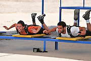 Israel, Habonim Skydive centre Pre-jump preparation and briefing short training for first time jumpers