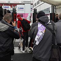 08.10.2020, Nürburgring, Nürburg, Formula 1 Aramco Grosser Preis der Eifel 2020<br /> , im Bild<br />Sebastian Vettel (GER#5), Scuderia Ferrari kommt mit einem Elektroscooter in das Fahrerlager<br /> <br /> Foto © nordphoto / Bratic