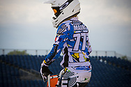#777 (MAIRE Camille) FRA at the UCI BMX Supercross World Cup in Papendal, Netherlands.