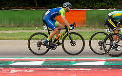 MEZGEC Luka of Slovenia competes during Men Elite Road Race at UCI Road World Championship 2020, on September 27, 2020 in Imola, Italy. Photo by Vid Ponikvar / Sportida