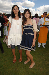 Left to right, YASMIN MILLS and her daughter LAUREN MILLS at the final of the Veuve Clicquot Gold Cup 2007 at Cowdray Park, West Sussex on 22nd July 2007.<br /><br />NON EXCLUSIVE - WORLD RIGHTS