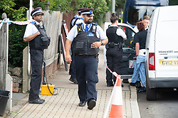 © Licensed to London News Pictures 15/09/2021. <br /> Bromley, UK, A large number of police on scene. A 51 year old man has been stabbed to death in Bromley, Greater London last night. Met police were called at 10.51pm and discovered the victim with multiple wounds. Photo credit:Grant Falvey/LNP