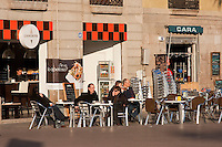 cafe in Barcelona Photography shoot in 2008 by Christopher Holt