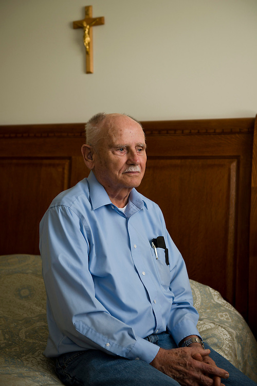 """photo by Matt Roth..Delaware residents Charles Holt and his son Mike are part of a class action law suit trying to recoup lost money (approximately $5,000) from Medicare because Charles was, according to them,  improperly classified as """"observation,"""" rather than """"in patient."""" Under the rules of Medicare, more bills are covered under the latter. Charles and Mike are photographed at the Heritage at Milford assisted living community, where Charles lives Sunday, August 19, 2012."""