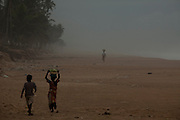 Coconut sellers on a beach near Abidjan, Ivory Coast. 30/08/2013 Photo Tiago Miranda Miranda/4SEE NO SALES IN PORTUGAL