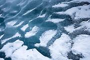 Graphic close up of dramatic glacial ice on Svinafellsjokull glacier, an outlet glacier of Vatnajokull, South Iceland