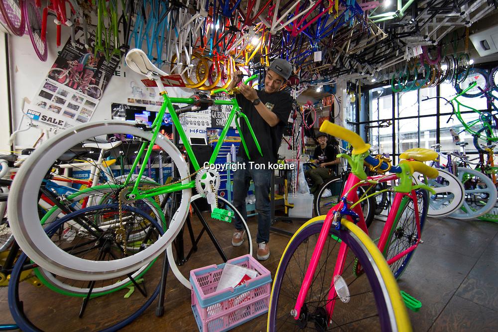 bicycle shop in Japan