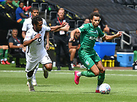 Football - 2019 / 2020 Championship - Swansea City vs Sheffield Wednesday<br /> <br /> Jacob Murphy of Sheffield Wednesday on the attack<br /> in a match played with no crowd due to Covid 19 coronavirus emergency regulations, at the almost empty Liberty Stadium.<br /> <br /> COLORSPORT/WINSTON BYNORTH