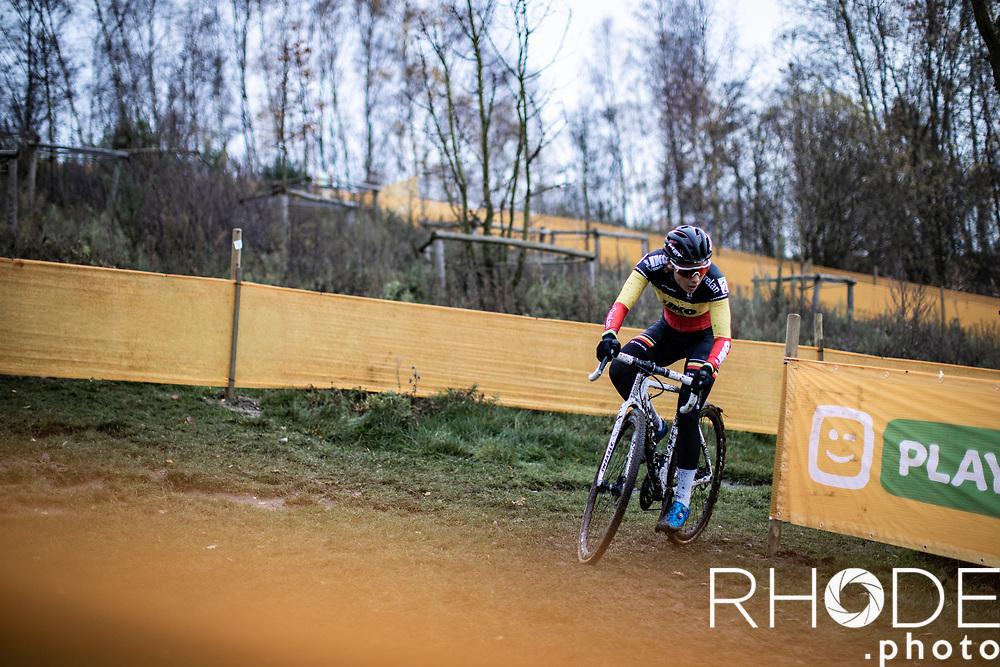 Belgian National Champion Sanne Cant (BEL/Iko-Crelan)<br /> <br /> CX Superprestige Boom 2020<br /> Women Elite <br /> <br /> ©RhodeVanElsen