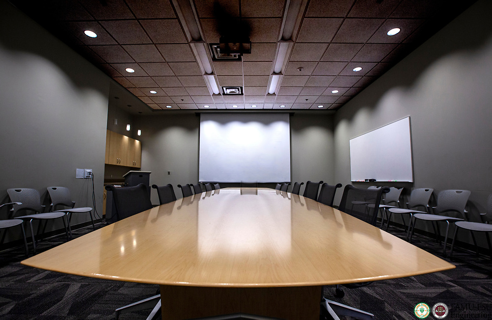 The conference room, room 211, in the Aero-Propulsion, Mechatronics and Energy Build (AME) at the FAMU-FSU College of Engineering in Tallahassee.