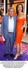 SOL & HEATHER KERZNER he is the multi-millionaire hotel owner, at a party in London on 18th May 2004.PUG 294