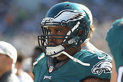Josh Andrews #68 of the Philadelphia Eagles during the game against the Saints on Oct.11, 2015 at Lincoln Financial Field in Phila. Pa (Photo by Ed Mahan)
