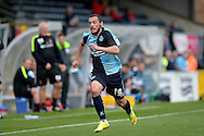 Michael Harriman of Wycombe Wanderers  in action. Skybet football league two match, Wycombe Wanderers v Hartlepool Utd at Adams Park in High Wycombe, Bucks on Saturday 5th Sept 2015.<br /> pic by John Patrick Fletcher, Andrew Orchard sports photography.