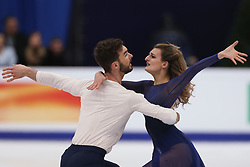 January 20, 2018 - Moscow, Russia - Gabriella Papadakis and Guillaume Cizeron of France  perform during an ice dance free dance event at the 2018 ISU European Figure Skating Championships, at Megasport Arena in Moscow, on January 20, 2018. (Credit Image: © Igor Russak/NurPhoto via ZUMA Press)
