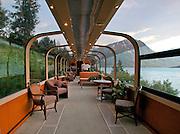 Alaska, Kenai Peninsula. Kenai lake. Aboard the Alaska Railroad.