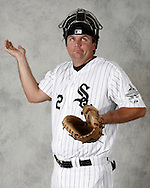 AUGUST 29-  A.J. Pierzynski poses during a photo shoot at U.S. Cellular Field in Chicago, IL on August 29, 2006. (Photo by Ron Vesely).