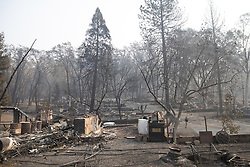 November 17, 2018 - Paradise, CA, United States of America - Fire damage to the homes destroyed in the Camp Fire November 17, 2018 in Paradise, California. (Credit Image: © Shealah Craighead via ZUMA Wire)