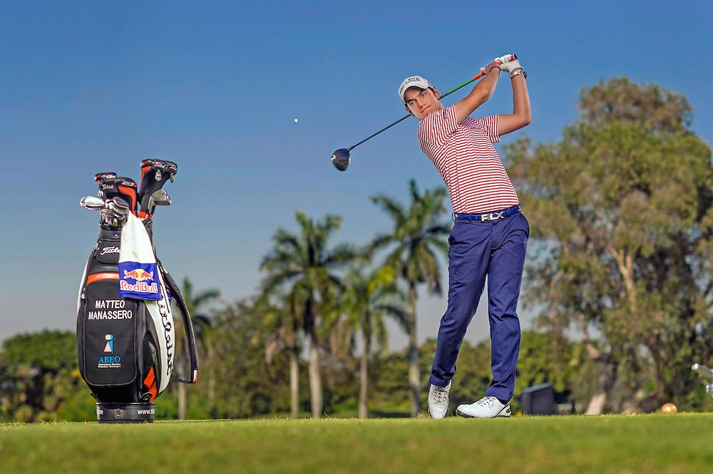 Matteo Manassero shot for Red Bull at the Doral Golf Resort in Miami, Florida.