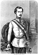 Franz Joseph I (1830-1916) Emperor of Austria 1848. Engraving 1859