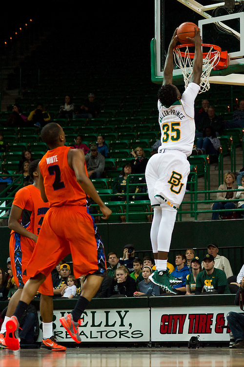 WACO, TX - JANUARY 3: Taurean Prince #35 of the Baylor Bears dunks the ball against the Savannah State Tigers on January 3, 2014 at the Ferrell Center in Waco, Texas.  (Photo by Cooper Neill) *** Local Caption *** Taurean Prince