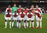 Arsenal team photo prior to kick-off<br /> <br /> Photographer Rob Newell/CameraSport<br /> <br /> UEFA Europa League Group E - Arsenal v FK Qarabag - Thursday 13th December 2018 - Emirates Stadium - London<br />  <br /> World Copyright © 2018 CameraSport. All rights reserved. 43 Linden Ave. Countesthorpe. Leicester. England. LE8 5PG - Tel: +44 (0) 116 277 4147 - admin@camerasport.com - www.camerasport.com