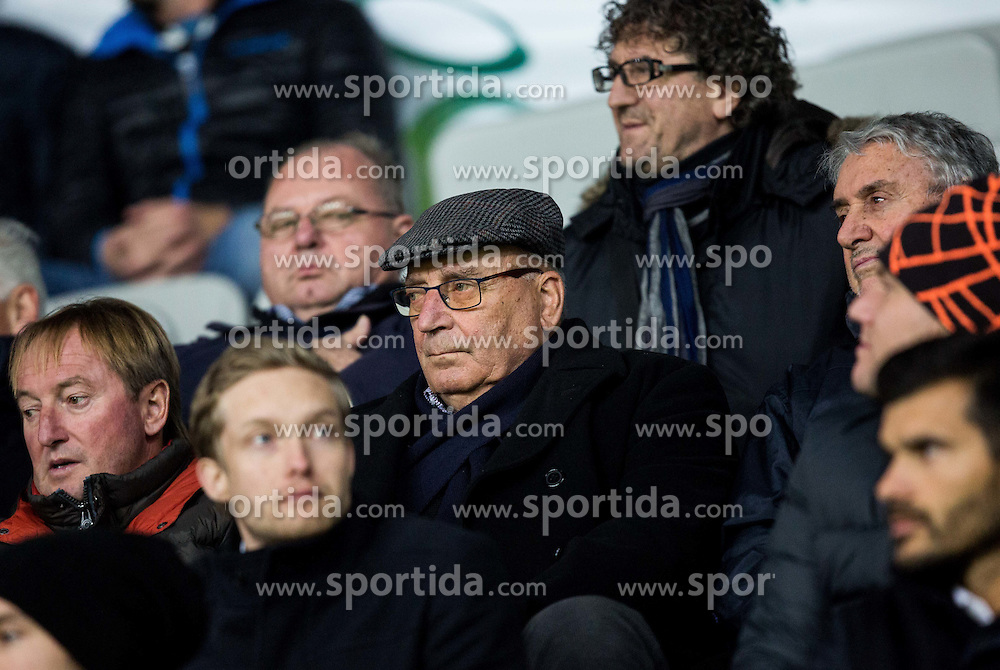 Bojan Krizaj, Ivo Daneu ahead to the football match between National teams of Slovenia and England in Round #3 of FIFA World Cup Russia 2018 Qualifier Group F, on October 11, 2016 in SRC Stozice, Ljubljana, Slovenia. Photo by Vid Ponikvar / Sportida