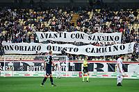Striscione tifosi Carpi per nuovo allenatore Giuseppe Sannino. Banner for the new Carpi trainer <br /> Modena 03-10-2015 Stadio Braglia Football Calcio Serie A 2015/2016 Carpi - Torino Foto Andrea Staccioli / Insidefoto