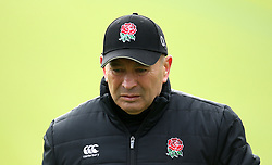 England head coach Eddie Jones during the training session at Pennyhill Park, Bagshot.