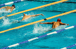Athletes competes in 100m Butterfly during Slovenian Swimming National Championship 2014, on August 3, 2014 in Ravne na Koroskem, Slovenia. Photo by Vid Ponikvar / Sportida.com