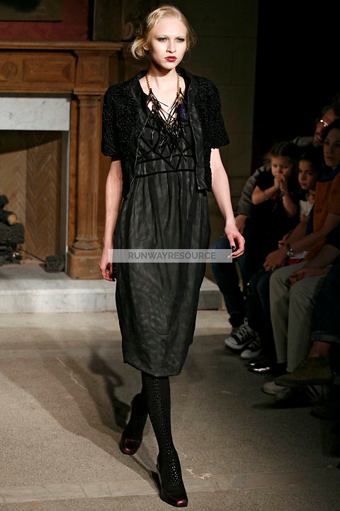 Yulia wearing the Cynthia Rowley Fall 2009 Collection.