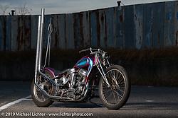 Tatsutya Fujii's survivor Harley-Davidson Panhead he has restored - rebuilt at his Duas Caras Cycles in Nagoya, Japan. Wednesday, December 5, 2018. Photography ©2018 Michael Lichter.