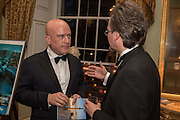 ANDREW PAULSON; OLEG  KHARKHORDIN, Professor Mikhail Piotrovsky Director of the State Hermitage Museum, St. Petersburg and <br /> Inna Bazhenova Founder of In Artibus and the new owner of the Art Newspaper worldwide<br /> host THE HERMITAGE FOUNDATION GALA BANQUET<br /> GALA DINNER <br /> Spencer House, St. James's Place, London<br /> 15 April 2015