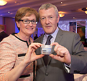 Kieran O Malley Achill Sea Salt with MEP Mairead McGuinness at the JFC Innovation awards sponsored by Teagasc, DARD Northern Ireland and the Irish Farmers Journal at the Claregalway Hotel. Photo:Andrew Downes