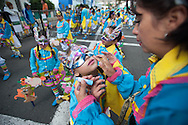 Before the start of the parade of children, January 2