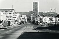 1970 Looking north up Vine St. from Santa Monica Blvd.