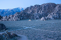 Camping in the Alabama Hills, California.