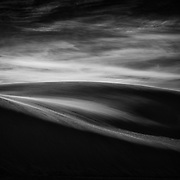 Black and white form and structure of White Sands National Monument, New Mexico