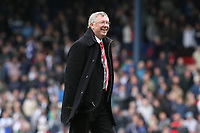 Football - Premier League - Blackburn Rovers vs. Manchester Utd<br /> A delighted Alex Ferguson, manager of Manchester United catches his players up on the pitch at Ewood Park